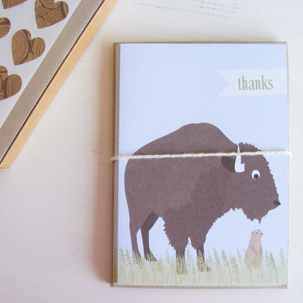 buffalo note card set