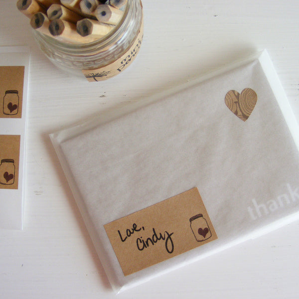 mason jar kraft labels