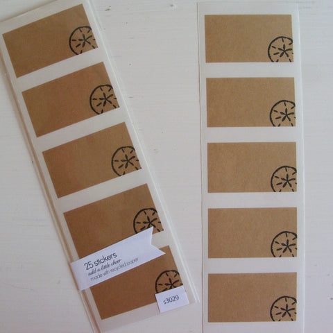 sand dollar kraft labels