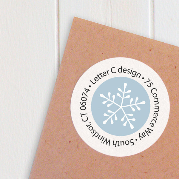 address labels let it snow