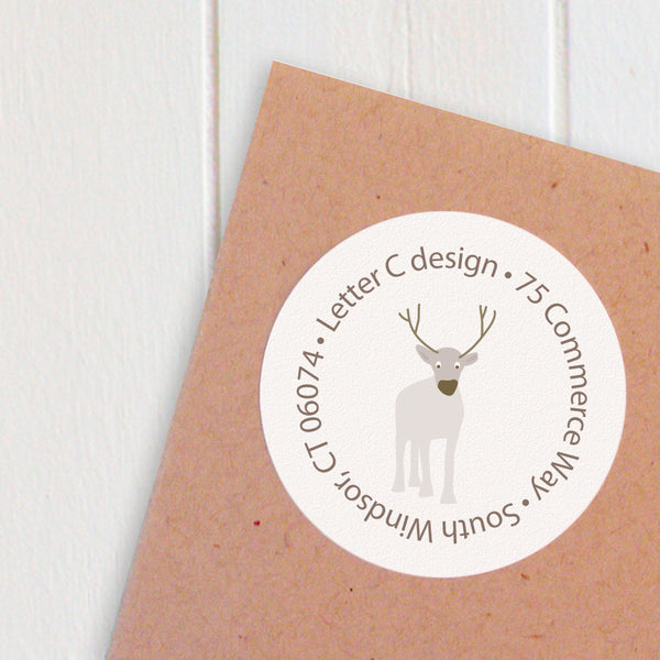 address labels reindeer