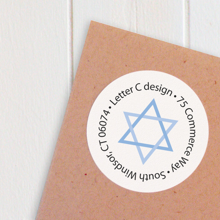 address labels hanukkah