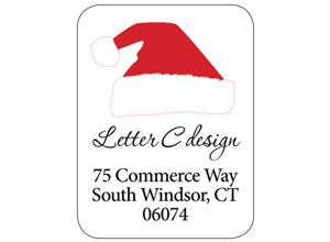 address labels santa hat