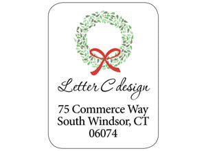 address labels wreath