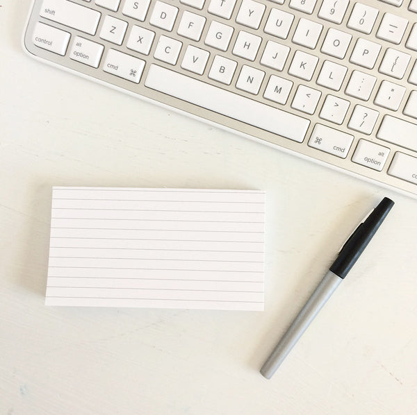 short & sweet notepad