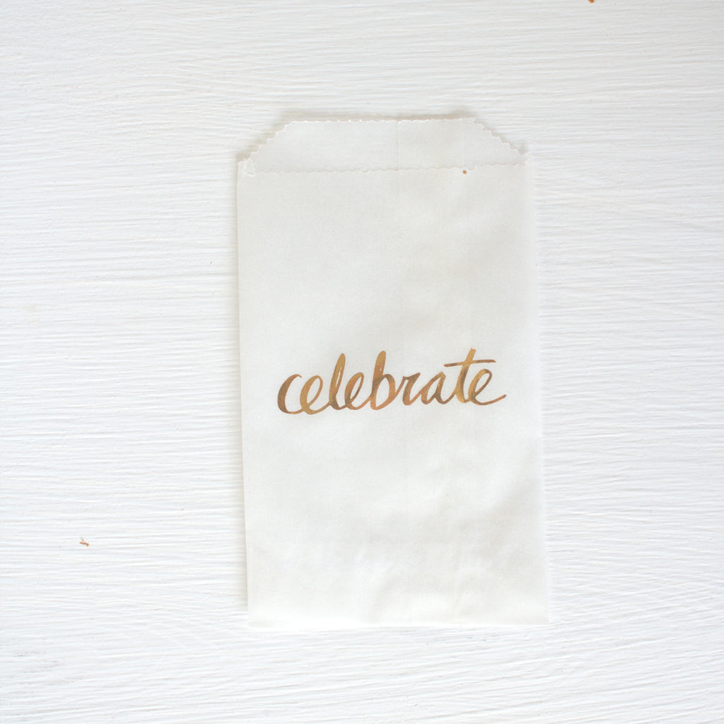 glassine treat bags - celebrate