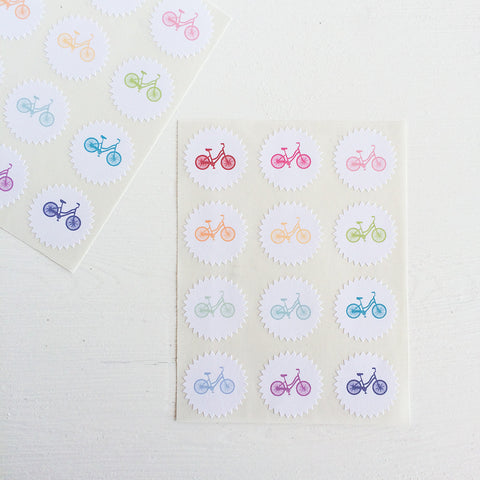 tiny starburst stickers - bikes