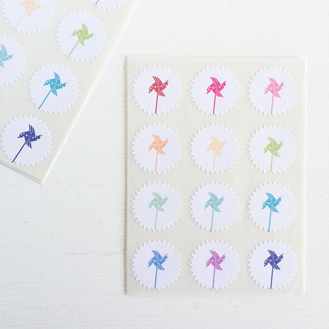 tiny starburst stickers - pinwheels