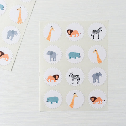 tiny starburst stickers - safari