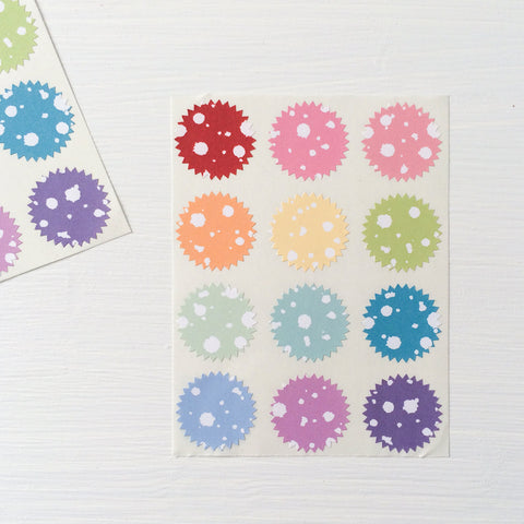 tiny starburst stickers - splatter