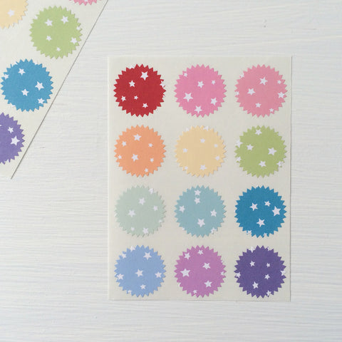 tiny starburst stickers - stars