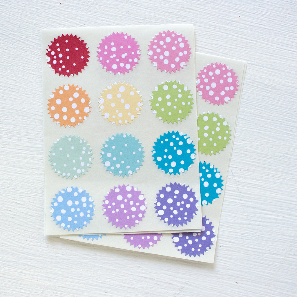 tiny starburst stickers - stormy