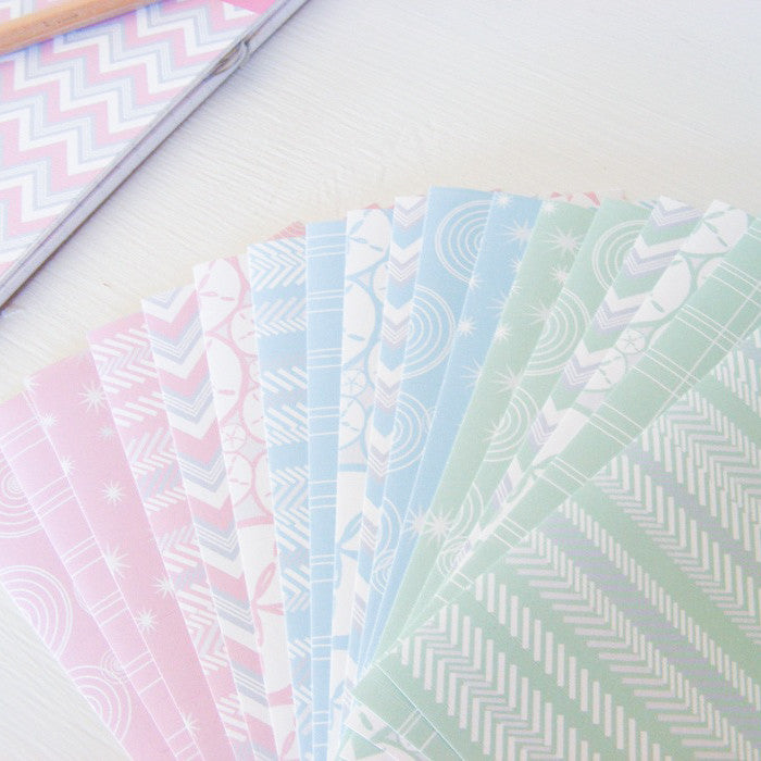 sticker tape with sweet pastel patterns