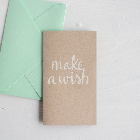 teeny tiny cards - make a wish