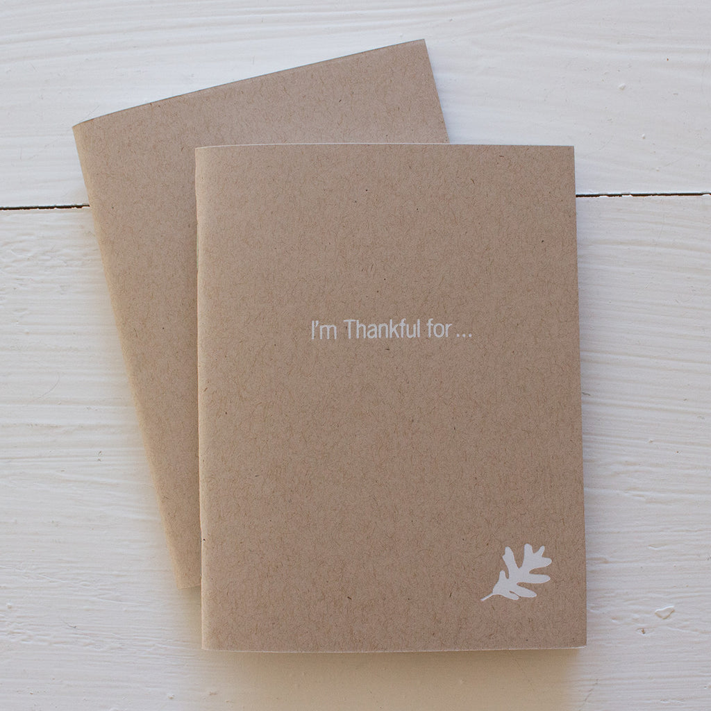 thankful pressed pocket journals in kraft