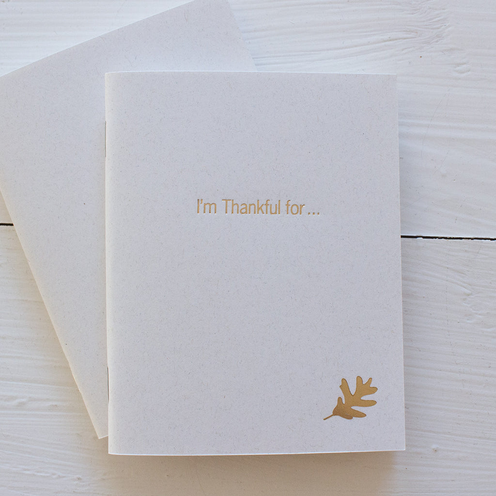 thankful pressed pocket journals in gold