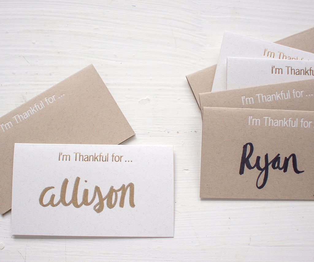 thankful for place cards