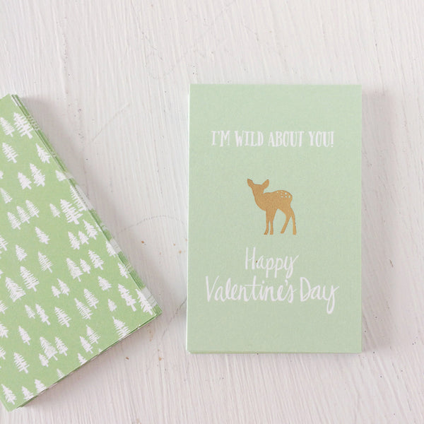 Wild about you - Valentine's Day cards - moose, buffalo and deer