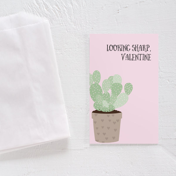 Valentine's Day card set - Cactus