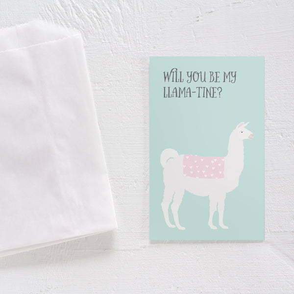 Valentine's Day card set - Llama