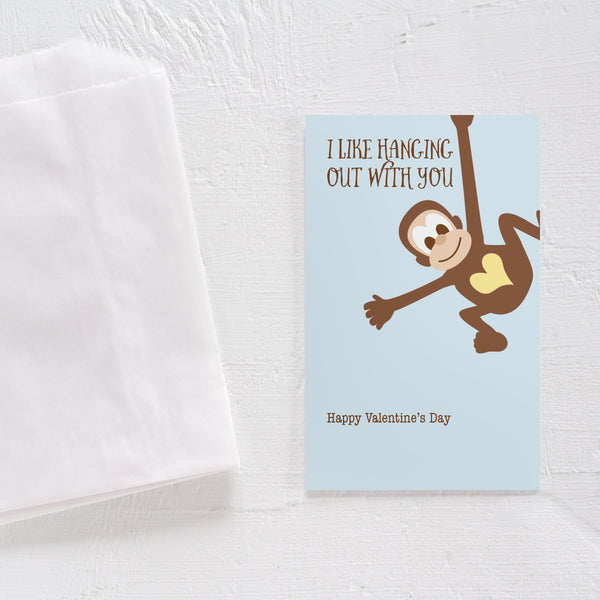 Valentine's Day card set - Monkey