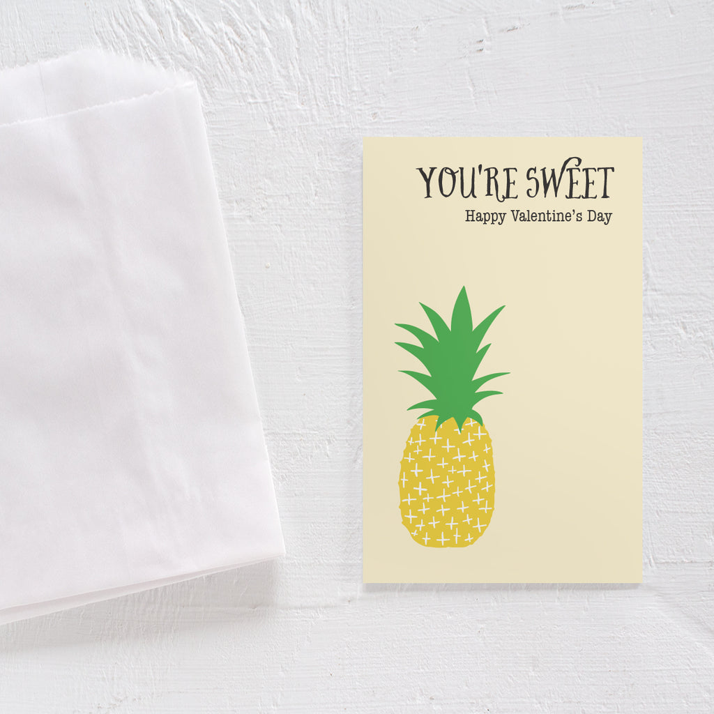 Valentine's Day card set - Pineapple