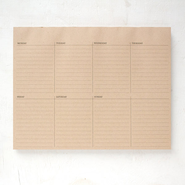 kraft weekly desk pad
