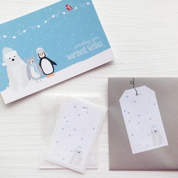 shipping tag stickers - polar bear