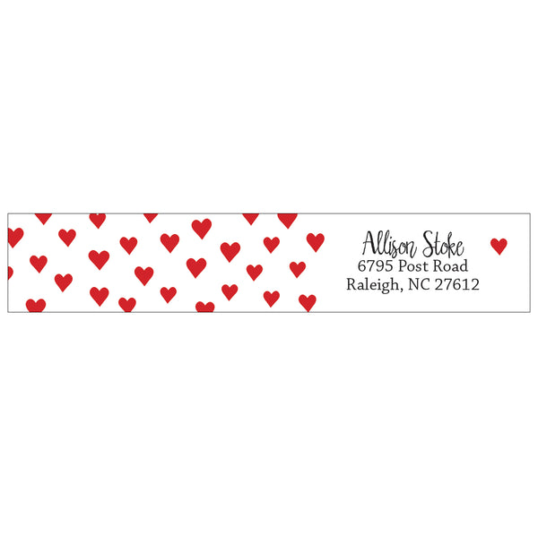 wrap address labels - hearts
