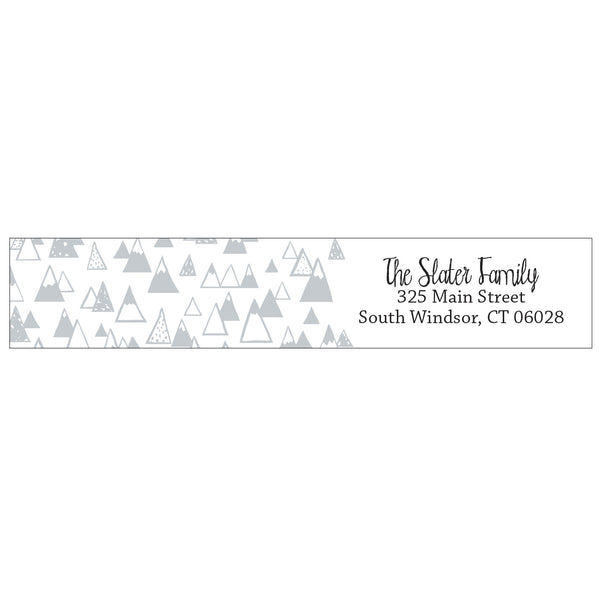 wrap address labels - mountains
