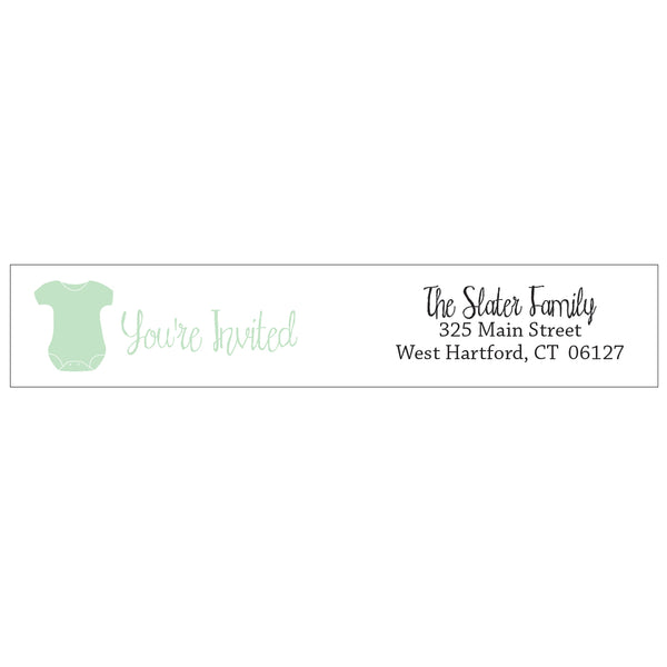 wrap address labels - onesie