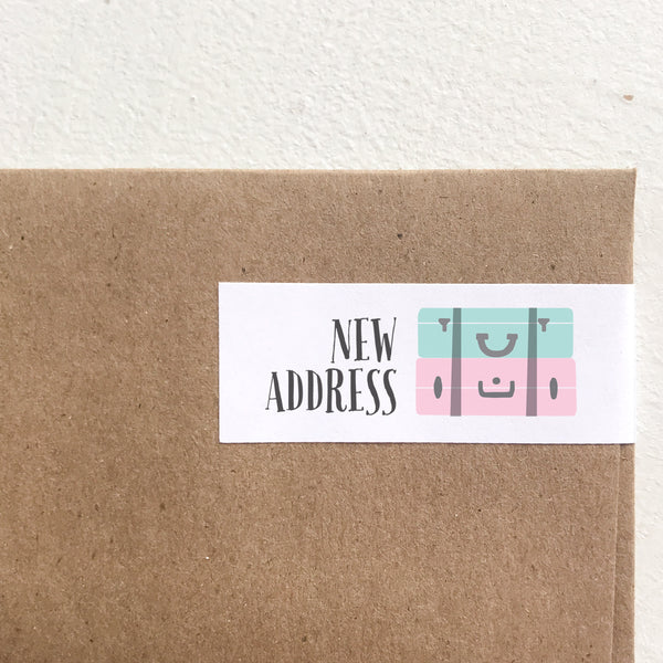 wrap address labels - suitcase