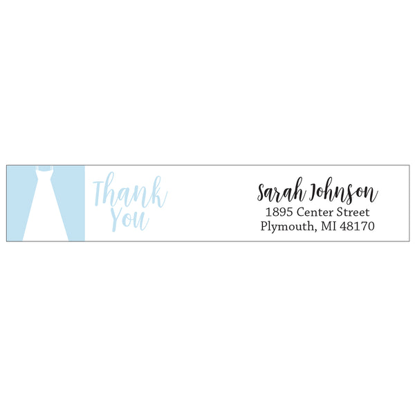 wrap address labels - wedding dress