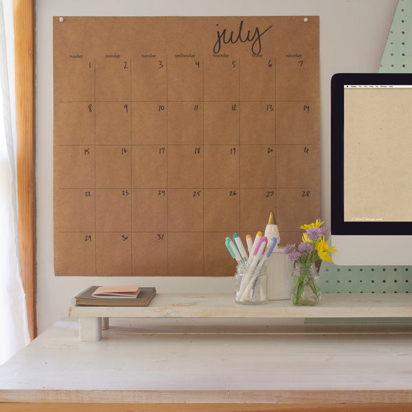 extra large undated kraft wall calendar