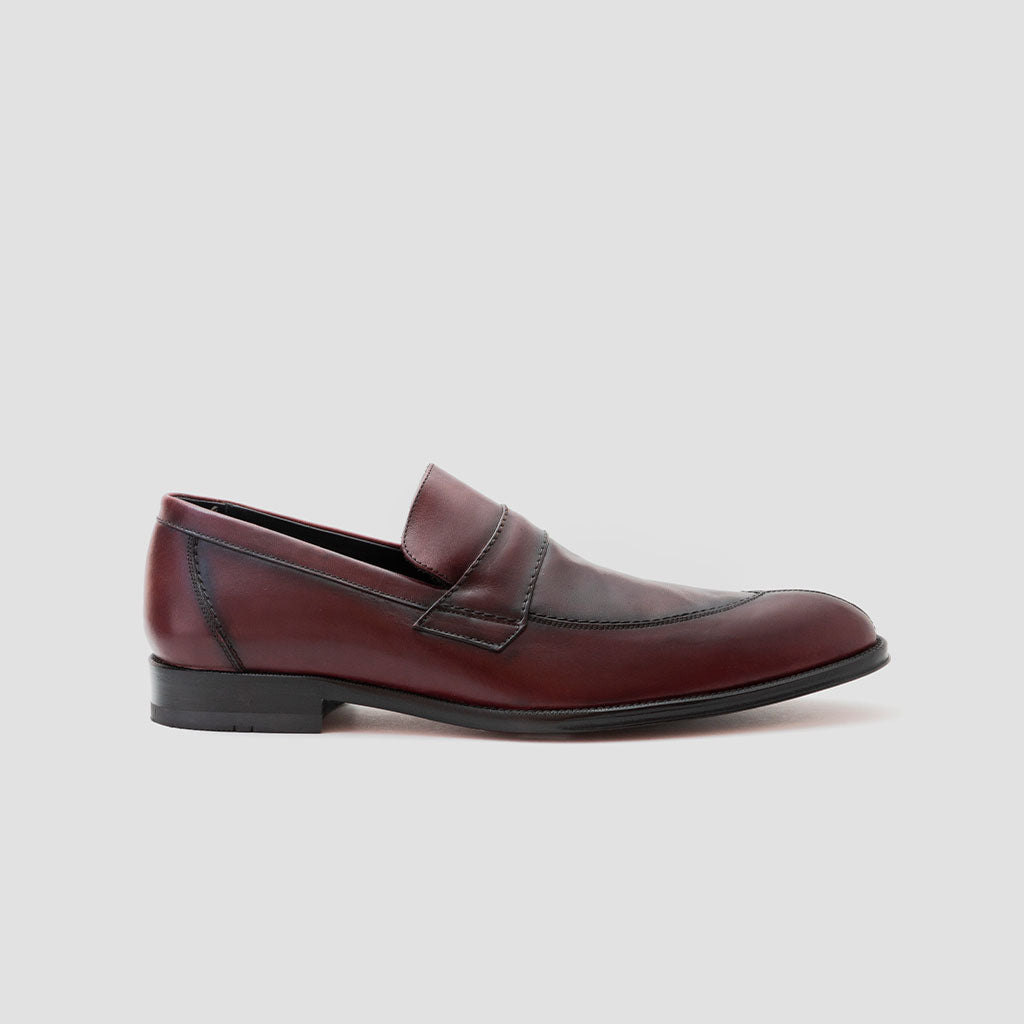 Loafer/mocasín corte recto antifaz | mod. 5045 Vino