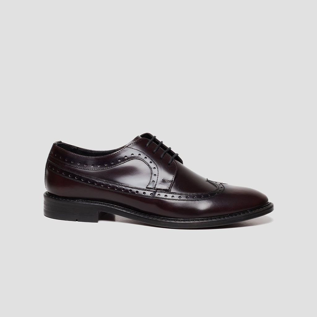 Derby Longwing Brogue alto brillo Mujer | mod. 3023 Vino