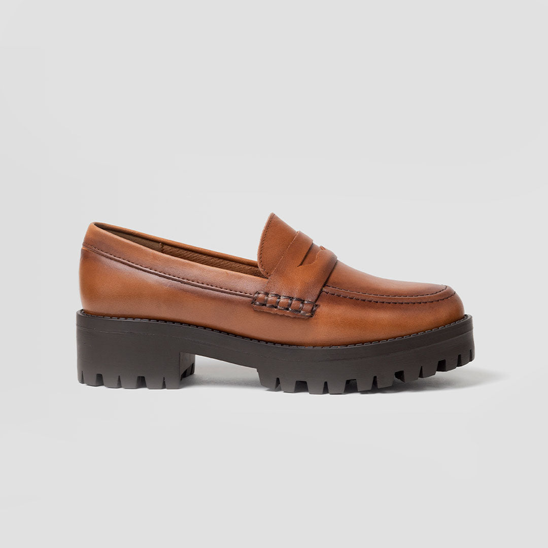 Penny loafer suela track Mujer | mod. 4707 Miel