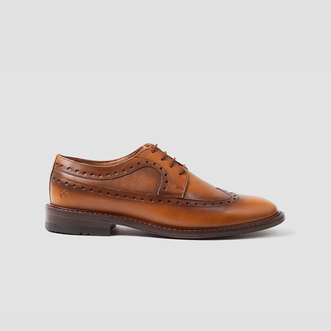 Derby longwing Brogue punt. ala Mujer | mod. 3023 Miel