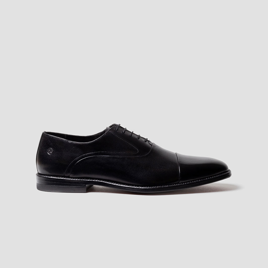 Oxford Quater brogue alto brillo | mod. 3122 Negro