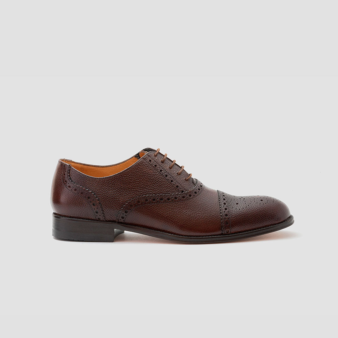 Oxford semi-brogue piedra de rio punt. recta | mod. 9148 (Tan, Negro)