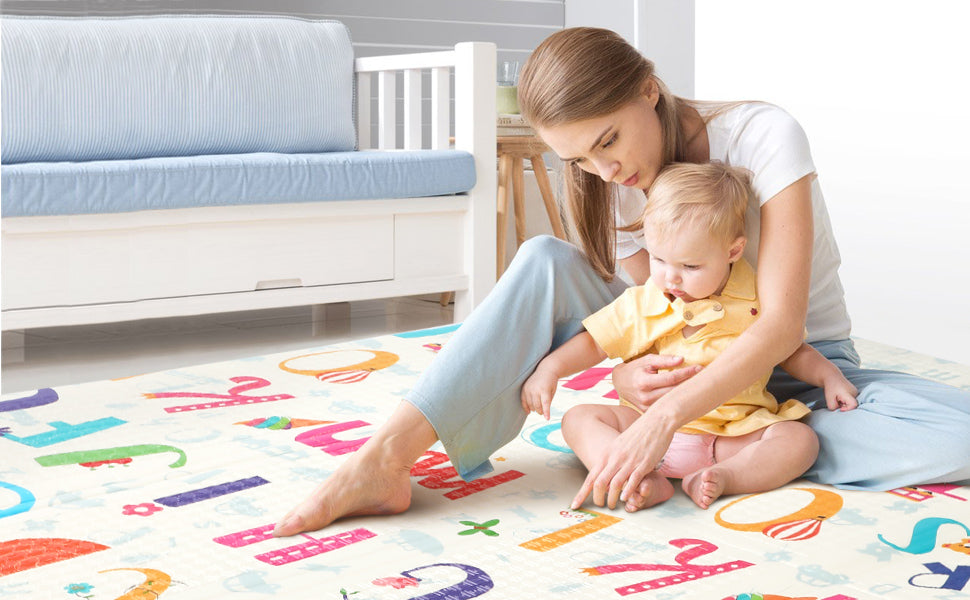 More Features:  Environmental: Reversible kids play mat is non-toxic and free of BPA, phthalates, latex, lead, and formamide.