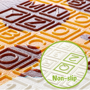 Cognitive & Anti-slip On the both side surface of the floor mats