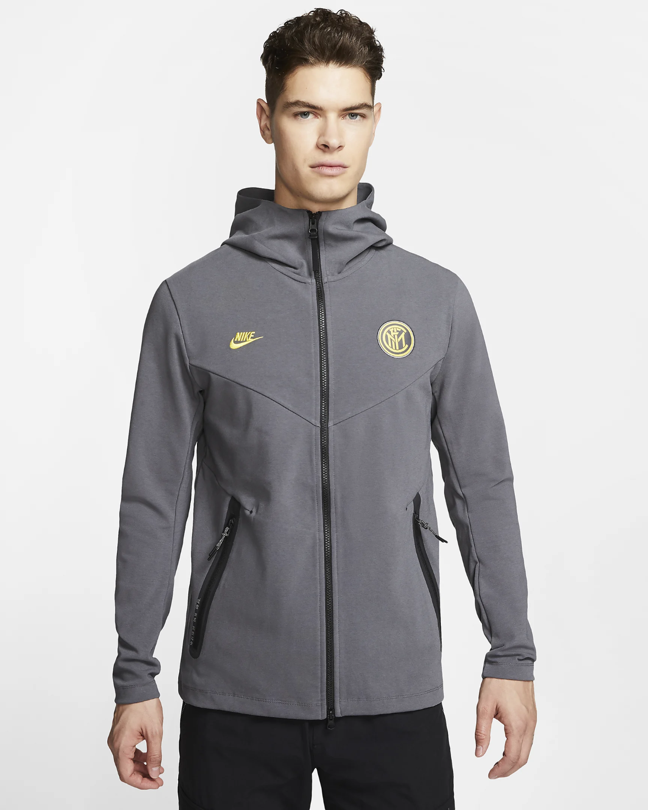 Men's Nike Inter Milan Tech Pack Hooded Jacket.    Size Small.    CI2129-025