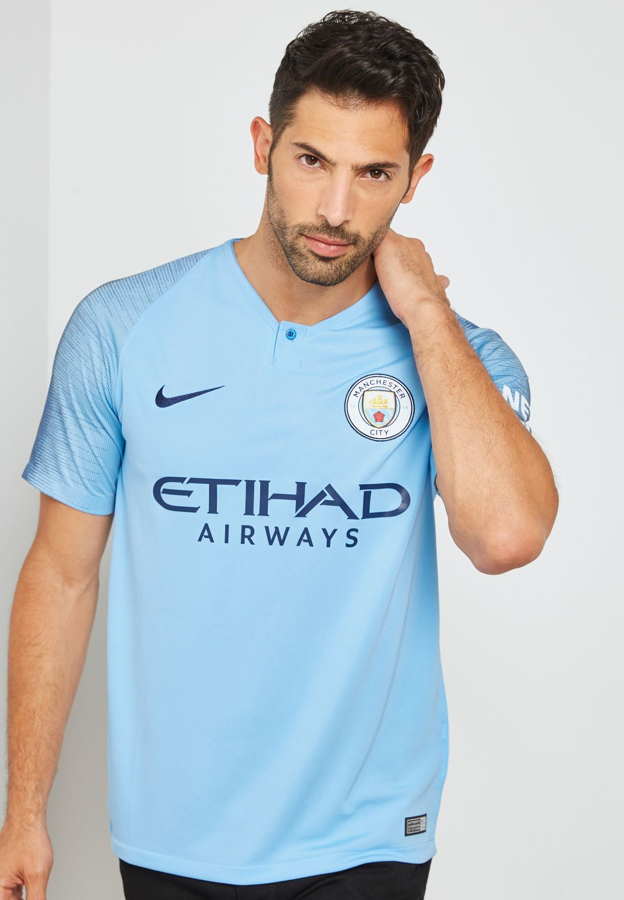 Men's Nike Breathe Manchester City 2018/19 Home Shirt.    894431-489