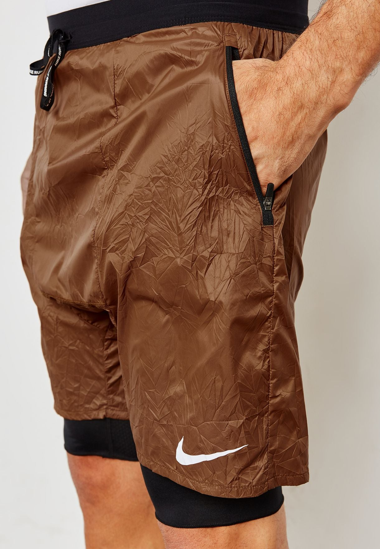 Men's Nike Running Division Stride Elevate 2 in 1 Distance Shorts.   928457-281