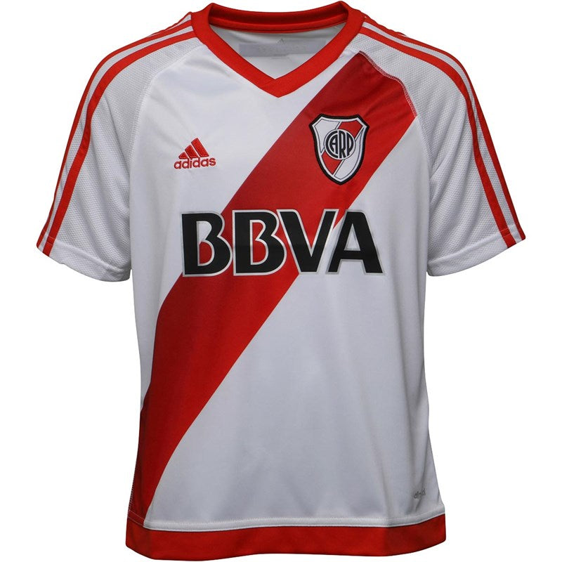 Adidas Junior Boys CARP River Plate Home Shirt