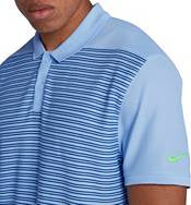 Men's Nike Golf Striped Polo Shirt.  Size Medium    AT3886-415
