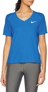 Women's Nike Running Miler V Neck Shirt.   Small   AO9668-403.