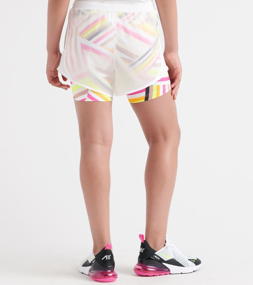 Girls NIKE ALL-OVER PRINT TEMPO ICON Shorts.    AQ9173-100