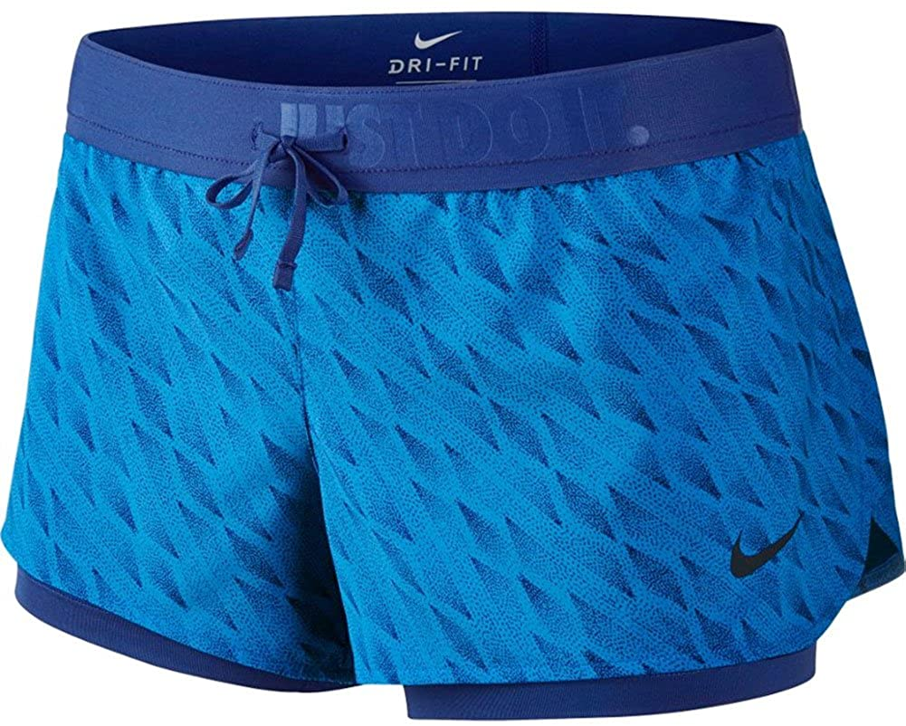 Women's Nike Dry Running 2 in 1 Shorts.     802921-435